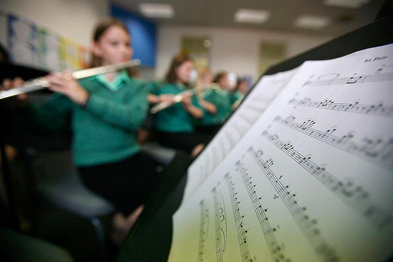 Музыкальное исполнение в оркестре фото
